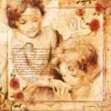 Les Anges, De Toute Mon Ame Prints by  Joadoor