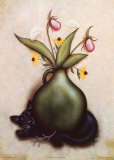 Cat & Vase I Prints by Jessica Fries