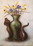 Cat & Vase IV Art by Jessica Fries