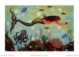 La sirène rouge Affiches par Jessica Fries