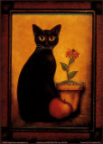 Framed Cat II Prints by Jessica Fries