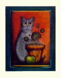 Framed Cat IV Print by Jessica Fries