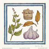 Herb And Garlic Print by Karyn Frances Gray