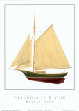 Friendship Sloop Poster by Robert Duff