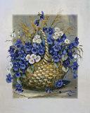 Basket in Blue Prints by Katharina Schottler