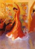 El Vestido Rojo Posters by Sharon Carson