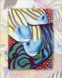 Poissons des tropiques III Posters par Nathalie Le Riche