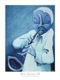 Blue Jazzman IV Prints by Patrick Daughton