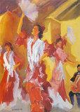 Los Bailarines de Flamenco Posters by Sharon Carson