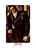 Portrait Of A Man Posters by Tamara de Lempicka