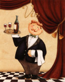 The Waiter, Vin Prints by Daphne Brissonnet