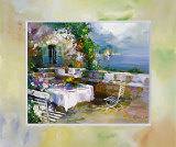 Garden at the lake Art by Willem Haenraets