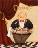 The Waiter, Dessert Prints by Daphne Brissonnet
