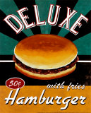 Hamburger de luxe Affiches par Catherine Jones