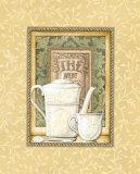Grüner Tee Poster von Charlene Audrey