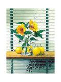 Fenster mit Sonnenblumen Posters by Franz Heigl
