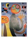 Les échelles en roue de feu Posters par Joan Miró