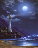 Blue Moon Lighthouse Prints by Steve Sundram