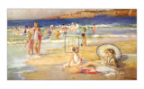 Beach at Biarritz Prints by Pierre Dupuy