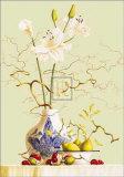 Stillleben mit chinesischer Vase und Blumen Kunstdrucke von R. Verkerk