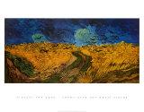 Korenveld met kraaien, ca. 1890 Kunst van Vincent van Gogh