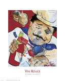 Vin Rouge Prints by Elaine Elliott