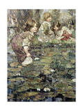 Among the Lilies, 1905 Giclee Print by Edward Atkinson Hornel
