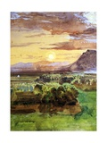 Sunset in Caserta, 1857 Giclee Print by Giacinto Gigante