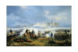 Episode in Battle of Marengo Giclee Print by Carlo Bossoli