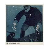The Christmas Snowman, from 'Le Mot', 1914-18 Giclee Print