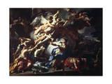 Boreas Raping Orythia Giclée-tryk af Francesco Solimena