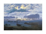 North Sea in Moonlight Gicléedruk van Caspar David Friedrich
