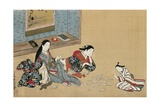 Women Playing Cards Giclee Print by Maruyama Okyo