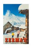 Zermatt, 1959 Giclee Print