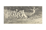 A Scare Crow Giclee Print by Charles Altamont Doyle