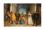 Jesus and the Woman Taken in Adultery Giclee Print by Jacopo Bassano