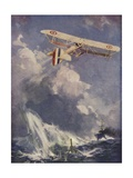 A Seaplane Bombing a Submarine Giclee Print