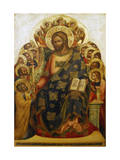 Jesus and St Peter Giclee Print by Lorenzo Veneziano