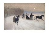 Sleigh Ride, 1880 Giclee Print by Giuseppe De Nittis
