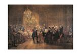 The Flute Concert, 1852 Gicléedruk van Adolph Friedrich Erdmann von Menzel