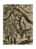 Marching Through the Swamps of British Guiana Giclee Print by Richard Caton II Woodville
