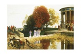 Temple of Bacchus Giclee Print by Arnold Bocklin