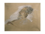 Giuseppe Verdi on His Deathbed Giclee Print by Adolfo Hohenstein