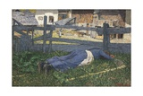 Resting in the Shade, 1892 Giclee Print by Giovanni Segantini
