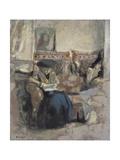 La Liseuse Au Coussin, C.1905 Giclée-Druck von Edouard Vuillard