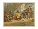 Discovery of America Giclee Print