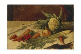 Still Life with Carrots Giclee Print by Giovanni Segantini