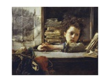 In the Study Giclee Print by Antonio Mancini