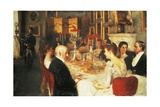 Dinner at Haddo House Giclee Print by Alfred Edward Emslie