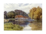The Swan Inn, Pangbourne Giclee Print by Alfred Robert Quinton